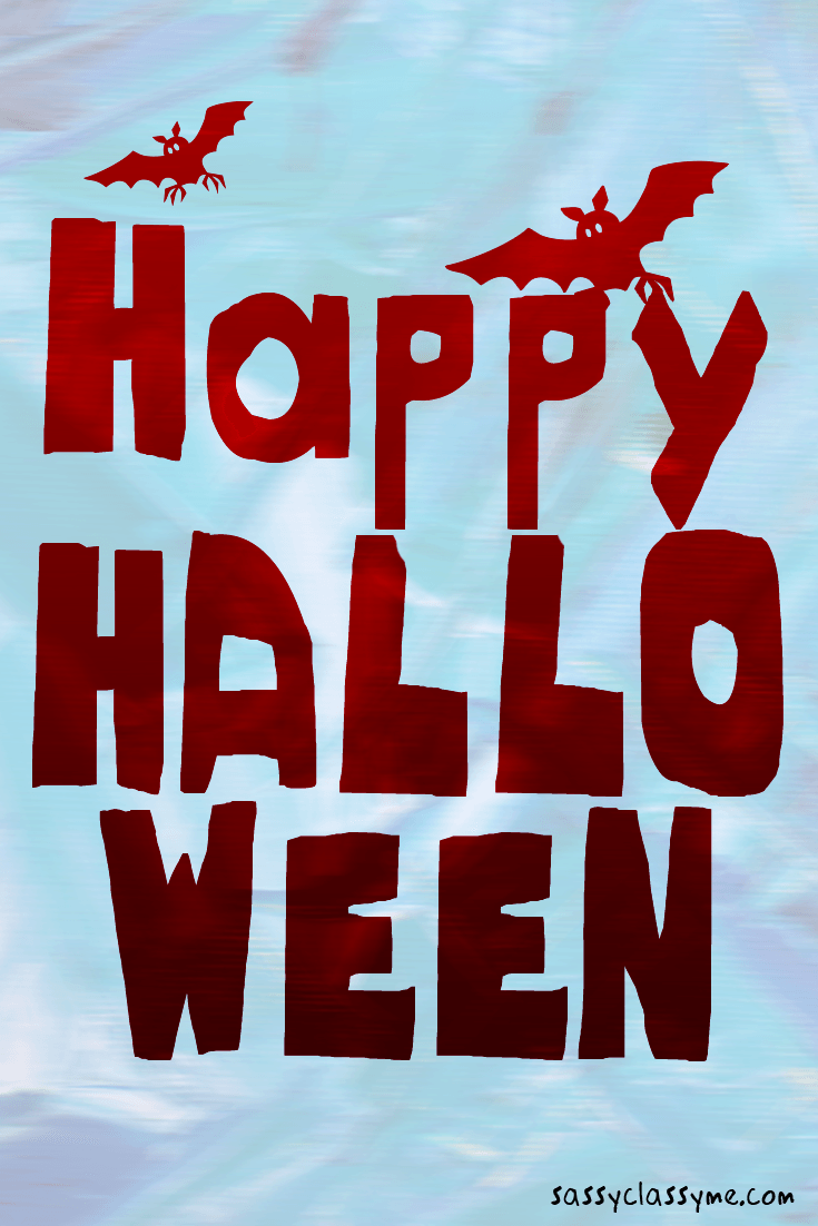 Stunning Happy Halloween Images Red Bats Sassyclassyme