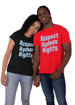 RESPECT HUMAN RIGHTS T SHIRT SASSYCLASSYME