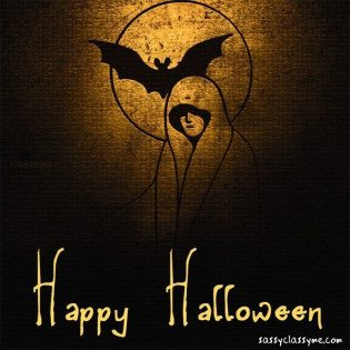 Stunning Happy Halloween Images Lady Bat Sassyclassyme